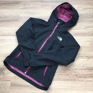 The North Face Hyvent jacket, black print, sz XS